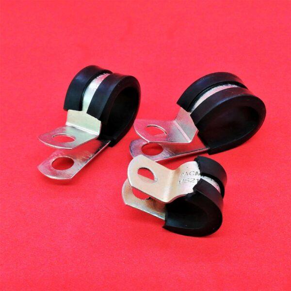 Abrazaderas Metálicas con Cubiertas de Hule - Metal Clamps with Rubber Covers