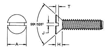 Tornillo Cabeza Plana a 100° - 100 ° Flat head screw